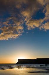 © Licensed to London News Pictures. 14/09/2012..Saltburn, England..Sunrise over Huntcliff, Saltburn..Photo credit : Ian Forsyth/LNP