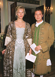 MISS ELISABETH MURDOCH, daughter of Media <br /> tycoon Rupert Murdoch and MR MATTHEW FREUD, <br />  at a party in London on 7th December 1998.MMT 21