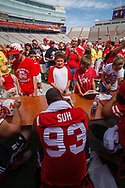 Ndamukong Suh signs autographs at the Fan Day at Memorial Stadium on Aug. 8, 2009. ©Aaron Babcock
