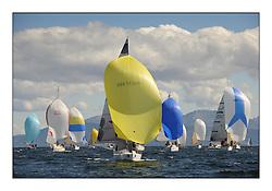 The Brewin Dolphin Scottish Series, Tarbert Loch Fyne...GBR7636R Hobbes Port Edgar YC and the IRC Fleet downwind...