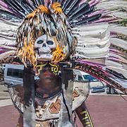 North America, Latin America, Latin, Caribbean, tropical, Mexico, Yucatan, Chichen Itza, Xchen Itza, Maya, Mayan, UNESCO World Heritage Site, <br /> Woman in traditional costume, Chichen Itza, Yucatan, Mexico.