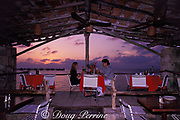 dinner by the sea, La Ceiba Hotel,<br /> Cozumel, Mexico ( Caribbean Sea )<br /> MR 110