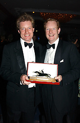 Left to right, the HON.PETER STANLEY and his brother the EARL OF DERBYat the 2004 Cartier Racing Awards in association with the Daily Telegraph, held at the Four Seasons Hotel, London on 17th November 2004.<br />