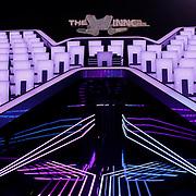 NLD/Hiversum/20120123 - Presentatie van nieuwe zangspelprogramma The Winner is …, decor in de studio