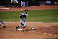 The Seattle Mariners defeated the Cleveland Indians 7-2 on April 29, 2008 at Progressive Field in Cleveland..Ichiro Suzuki runs to first base.