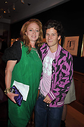 CAMILLA LOWTHER and JOSH CRICHTON-STUART (Earl of Dumfries) at fundraising dinner and auction in aid of Liver Good Life a charity for people with Hepatitis held at Christies, King Street, London on 16th September 2009.