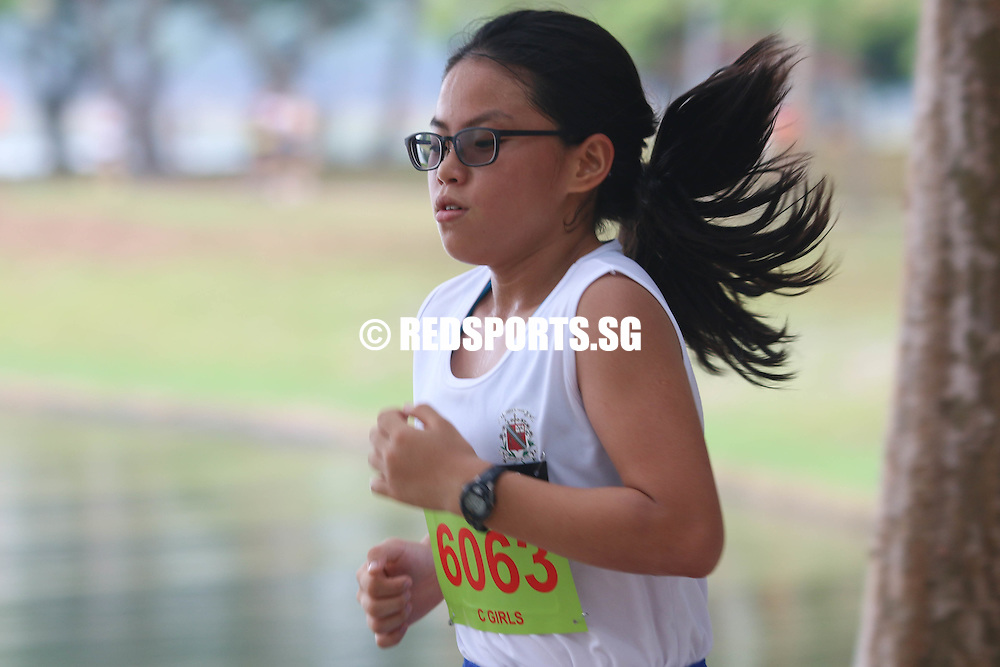 Elizabeth Liau (#6063) of SNGS emerged first in the C Division Girls category with a timing of 15:27.30. (Photo © Chua Kai Yun/Red Sports)