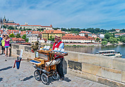 Praga, stolica Czech. 2013-07-23. Most Karola.