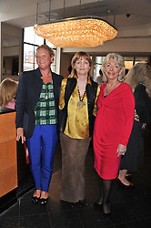 Left to right, CAROLINE COLLINS, CLARA WEATHERALL and JUDY NAAKE at a ladies lunch in support of Maggie's Barts hosted by Judy Naake, Clara Weatherall and Caroline Collins at Le Cafe Anglais, 8 Porchester Gardens, London W2 on 19th March 2013.