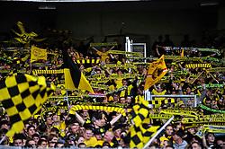 29.08.2010, Mercedes-Benz Arena, Stuttgart, GER, 1. FBL, VfB Stuttgart vs Borussia Dortmund, im Bild mitgereiste Dormunder Fans, EXPA Pictures © 2010, PhotoCredit: EXPA/ nph/  Roth+++++ ATTENTION - OUT OF GER +++++ / SPORTIDA PHOTO AGENCY