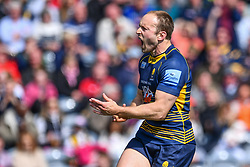 Chris Pennell of Worcester Warriors celebrates his try - Mandatory by-line: Craig Thomas/JMP - 13/04/2019 - RUGBY - Sixways Stadium - Worcester, England - Worcester Warriors v Sale Sharks - Gallagher Premiership Rugby
