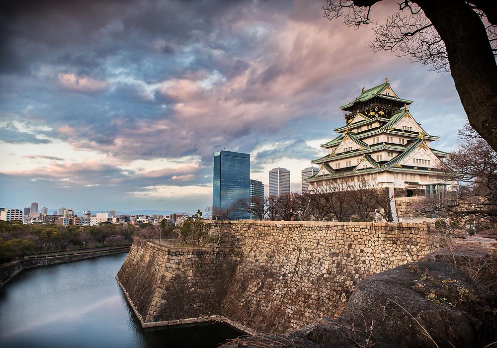 Osaka Castle, Osaka Prefecture, Honshu, Japan