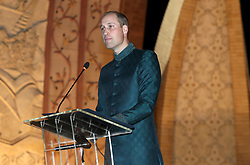 The Duke of Cambridge speaks at a reception hosted by the British High Commissioner to Pakistan Thomas Drew CMG at the National Monument in Islamabad during the second day of the royal visit to Pakistan.