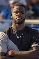 February 25, 2018 - Delray Beach, FL, US - FRANCIS TIAFOE (US) won the Delray Beach Open Men's Single Final at the Delray Beach Tennis Stadium. TIAFOE beat PETER GOJOWCZYK (Ger) 6-1, 6-4. (Credit Image: © Arnold Drapkin via ZUMA Wire)