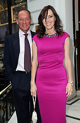 Image licensed to i-Images Picture Agency. 16/06/2014. Gregory Peck's children Anthony and Cecilia Peck  arriving for the launch of a Gregory Peck exhibition at  Huntsman tailors in Savile Row, London, to celebrate five decades of dressing the Hollywood actor. Picture by Stephen Lock / i-Images