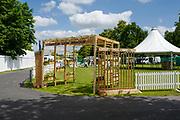 Henley on Thames, England, United Kingdom, 2nd July 2019, Henley Royal Regatta,  Entrance to Little Lion Meadow, Enclosure, on Henley Reach, [© Peter SPURRIER/Intersport Image] 1919 - 2019, Royal Henley Peace Regatta Centenary,