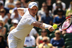 6 July 2017 -  Wimbledon Tennis (Day 4) - Kyle Edmund (GBR) in action during his 2nd round match - Photo: Marc Atkins / Offside.