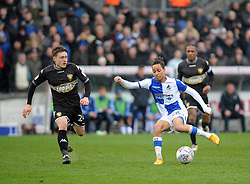 Kyle Bennett of Bristol Rovers is challenged by Callum Styles of Bury - Mandatory by-line: Neil Brookman/JMP - 30/03/2018 - FOOTBALL - Memorial Stadium - Bristol, England - Bristol Rovers v Bury - Sky Bet League One