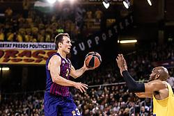November 1, 2018 - Barcelona, Barcelona, Spain - Kevin Pangos, #3 of FC Barcelona Lassa in actions during EuroLeague match between FC Barcelona Lassa and Maccabi Fox Tel Aviv  on November 01, 2018 at Palau Blaugrana, in Barcelona, Spain. (Credit Image: © AFP7 via ZUMA Wire)