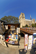 Paris - France - Seine Bank with Book Stalls Near Notre Dame .<br /> <br /> Visit our FRANCE HISTORIC PLACES PHOTO COLLECTIONS for more photos to download or buy as wall art prints https://funkystock.photoshelter.com/gallery-collection/Pictures-Images-of-France-Photos-of-French-Historic-Landmark-Sites/C0000pDRcOaIqj8E