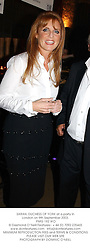 SARAH, DUCHESS OF YORK at a party in London on 9th September 2003.<br /> PMG 192 WO