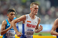 Filip Ingebrigsten (Norway), 5000 Metres Men - Round 1, Heat 2, during the 2019 IAAF World Athletics Championships at Khalifa International Stadium, Doha, Qatar on 27 September 2019.