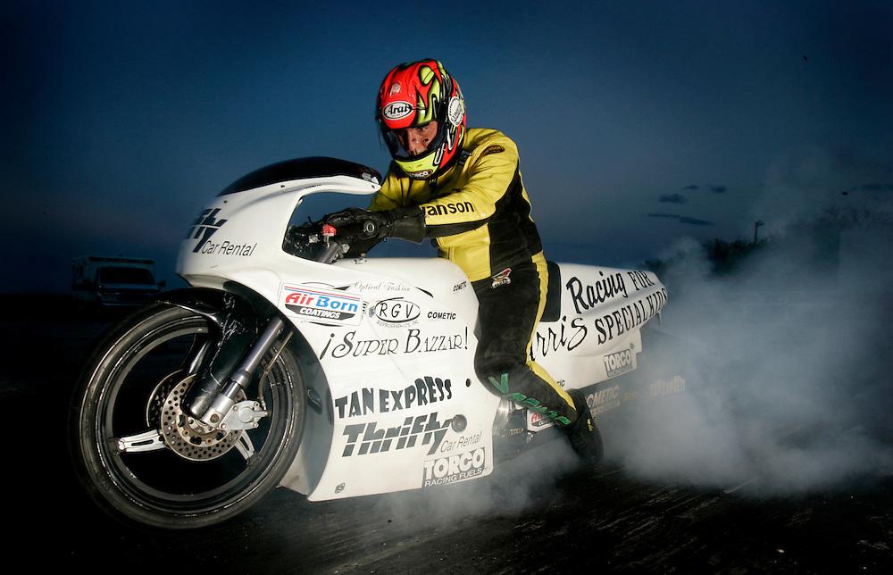 Jorge Mendoza, Mexican Superbike racer.