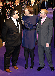 © under license to London News Pictures. 07/02/2011. Simon Pegg, Sigourney Weaver and Nick Frost attends the World premiere of Paul at The Empire Cinema, Leicester Square, London. Picture credit should read: Julie Edwards/London News Pictures