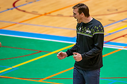 Coach Joris Marcelis of Orion in action during the semi cupfinal between Active Living Orion vs. Amysoft Lycurgus on April 03, 2021 in Saza Topsportshall Doetinchem