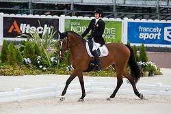 Rebecca Hart, (USA), Schroeters Romani - Team Competition Grade II Para Dressage - Alltech FEI World Equestrian Games™ 2014 - Normandy, France.<br /> © Hippo Foto Team - Jon Stroud <br /> 25/06/14