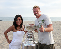 17 June 2007: DR. MIKE CZAPALA. Portrait of family, friends and hockey players on the sand in Newport Beach, CA on Fathers Day with the NHL Stanley Cup for the Hockey News courtesy of the Hockey Hall of Fame.  PERSONAL USE ONLY!!!!!!!