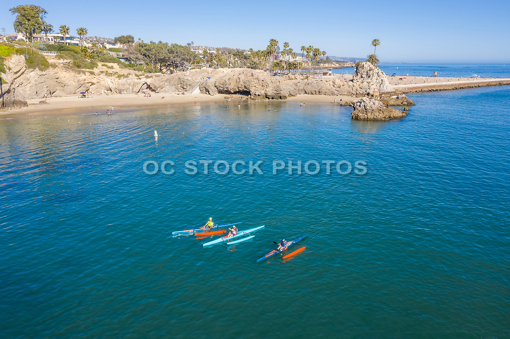 Racing Canoes on the Water