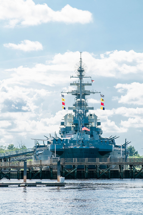 View of the Battleship North Carolina during the Wilmington Water Tours in Wilmington, North Carolina on Monday, August 9, 2021. Copyright 2021 Jason Barnette