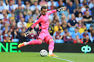 Lee Camp, the Rotherham Utd goalkeeper in action. EFL Skybet championship match, Aston Villa v Rotherham Utd at Villa Park in Birmingham, The Midlands on Saturday 13th August 2016.<br /> pic by Andrew Orchard, Andrew Orchard sports photography.