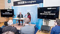 Director General of the BBC Tony Hall visits the BBC Birmingham seeing and talking to various departments. I spend the day covering his visit for BBC Birmingham Marketing.