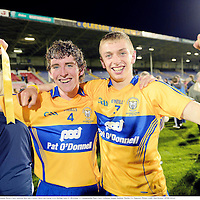 15 September 2012; Conor Ryan, left, and Seadna Morey, Clare, celebrate their side's victory. Bord G√°is Energy GAA Hurling Under 21 All-Ireland 'A' Championship Final, Clare v Kilkenny, Semple Stadium, Thurles, Co. Tipperary. Picture credit: Matt Browne / SPORTSFILE