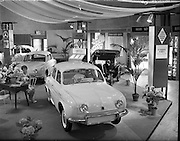 3-5/06/1959.06/3-5/1959.3-5 June 1959.Motor Distributers car exhibition at Mansion House, Dublin. Renault Dauphine,