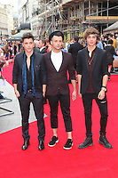 JJ Hamblett; Jaymi Hensley; George Shelley; Union J, The Inbetweeners 2 - World Film Premiere, Leicester Square, London UK, 05 August 2014, Photo by Richard Goldschmidt