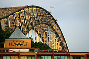 Sydney Harbour Bridge and Park Hyatt.Sydney, Australia.