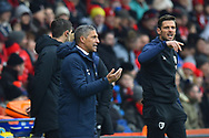 Brighton and Hove Albion manager Chris Hughton in the technical area during the The FA Cup 3rd round match between Bournemouth and Brighton and Hove Albion at the Vitality Stadium, Bournemouth, England on 5 January 2019.