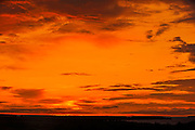 Sunset over Lac Saint- Jean<br /> Chambord<br /> Quebec<br /> Canada