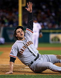Ryan Theriot scores the winning run in Game 4, 2012 World Series Champion Giants