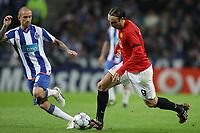 20090415: PORTO, PORTUGAL - FC Porto vs Manchester United: Champions League 2008/2009 Ð Quarter Finals Ð 2nd leg. In picture: Raul Meireles and Berbatov. PHOTO: Ricardo Estudante/CITYFILES