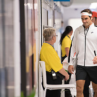 Roger Federer of Switzerland on day eleven of the 2017 Australian Open at Melbourne Park on January 26, 2017 in Melbourne, Australia.<br /> (Ben Solomon/Tennis Australia)