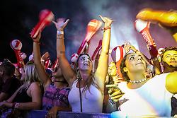 Público durante o show de Wesley Safadão no Palco Planeta  durante a 22ª edição do Planeta Atlântida. O maior festival de música do Sul do Brasil ocorre nos dias 3 e 4 de fevereiro, na SABA, na praia de Atlântida, no Litoral Norte gaúcho.  Foto: Jefferson Bernardes / Agência Preview