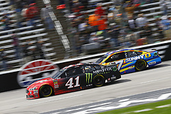 April 8, 2018 - Ft. Worth, Texas, United States of America - April 08, 2018 - Ft. Worth, Texas, USA: Kurt Busch (41) and Ricky Stenhouse, Jr (17) battle for position during the O'Reilly Auto Parts 500 at Texas Motor Speedway in Ft. Worth, Texas. (Credit Image: © Chris Owens Asp Inc/ASP via ZUMA Wire)