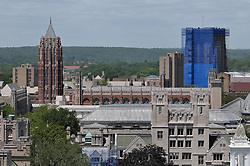 Sterling Memorial Library, Law School, Silliman & PWG Tower as seen from New Haven County Courthouse Roof. West Ridge in distance.