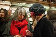 CAROLINE GARLAND; MARTHA PAPADAKIS, William Fitzgerald, Book launch ,  'How to read a Latin poem - if you can't read Latin yet' published by OUP.- Daunts bookshop Marylebone, London 21 February 2013.