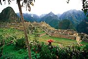 PERU, PREHISPANIC, INCA Machu Picchu; the Central Plaza