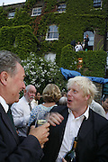 Peter McKay and Boris Johnson, The Spectator At Home. Doughty St. 6 July 2006. ONE TIME USE ONLY - DO NOT ARCHIVE  © Copyright Photograph by Dafydd Jones 66 Stockwell Park Rd. London SW9 0DA Tel 020 7733 0108 www.dafjones.com